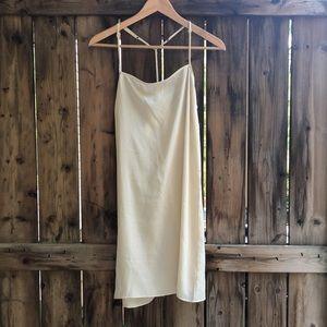FRAME off white slip dress size Large